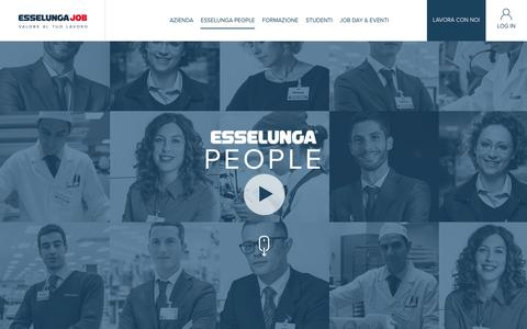 Screenshot of Team Page esselungajob.it - Esselunga People - captured Aug. 26, 2017