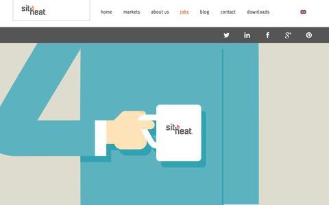 Screenshot of Jobs Page sitandheat.com - Jobs | Sit & Heat - captured Feb. 16, 2016