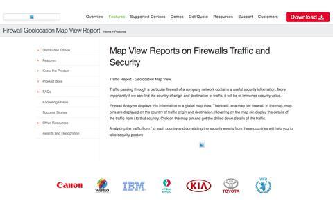 Firewall Geolocation Map View Report :: Firewall Analyzer
