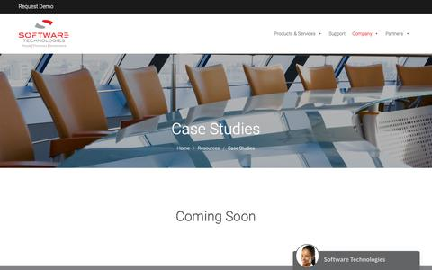 Screenshot of Case Studies Page stl-horizon.com - Case Studies – Software Technologies Limited - captured Oct. 18, 2018