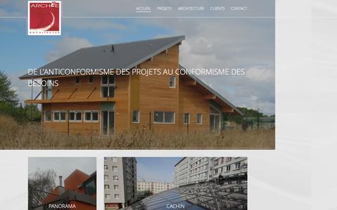 Screenshot of Home Page archee.org - Architecte HQE Paris, cabinet d'architectes Paris - captured Dec. 23, 2015