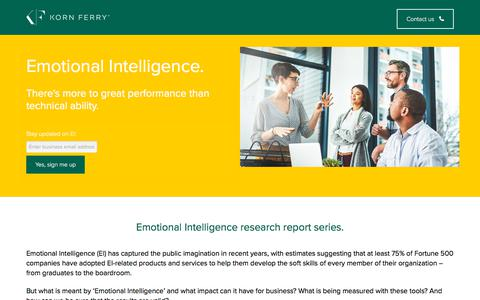 Screenshot of Landing Page kornferry.com - Emotional Intelligence | Korn Ferry - captured Sept. 19, 2018