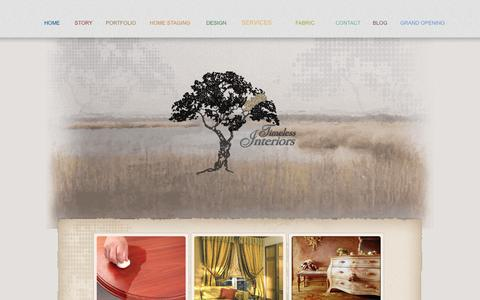 Screenshot of Services Page timelessinteriorshiltonhead.com - Timeless Interiors - Furniture Services - captured Oct. 9, 2014