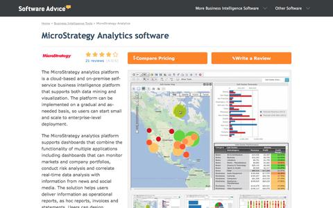 Microstrategy Analytics Software - 2018 Reviews