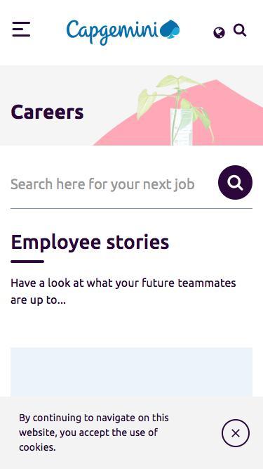 Screenshot of Jobs Page  capgemini.com - Careers – Capgemini Sweden