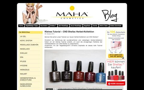 Screenshot of Blog maha-cosmetics.com - MAHA COSMETICS – Großhandel für Nageldesign und Ausbildung zur Nageldesignerin - captured Sept. 24, 2014