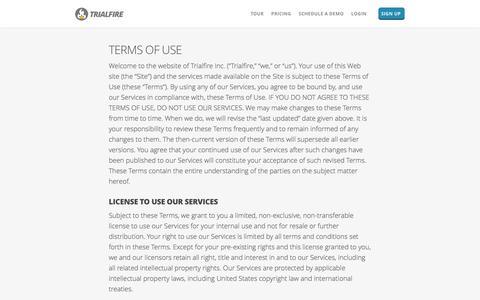 Terms   Trialfire