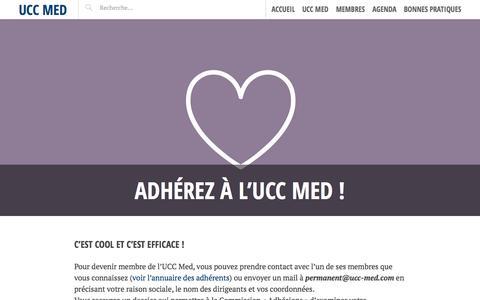 Screenshot of Home Page ucc-med.com - Adhérez à l'UCC Med ! | UCC Med - captured Aug. 2, 2015