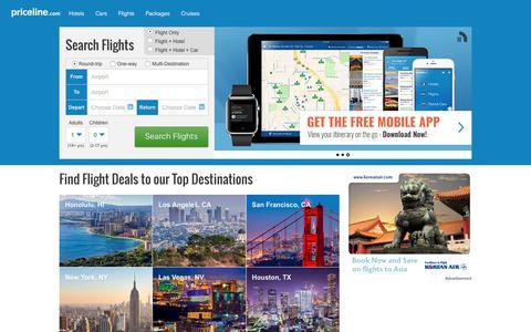 Flights: Find Cheap Flights & Airfares | Priceline