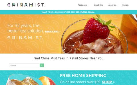 Screenshot of Home Page chinamist.com - Chinamist - captured June 17, 2015