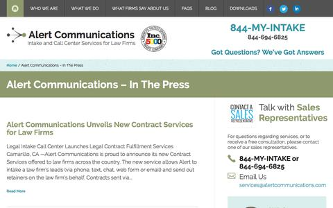 Alert Communications - In The Press - Alert Communications