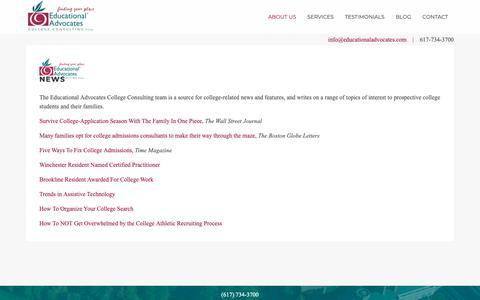 Screenshot of Press Page educationaladvocates.com - News - captured Dec. 14, 2018