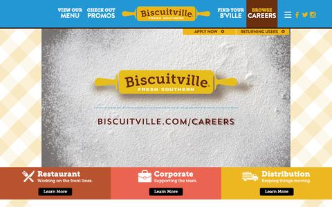 Screenshot of Jobs Page biscuitville.com - Restaurant Jobs NC & VA | Biscuitville Careers - captured July 29, 2016