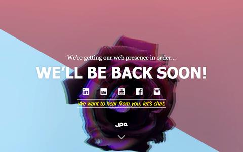 Screenshot of Home Page jpadvertising.com - Digital Communication Design Marketing in Malta   JPA - captured Sept. 20, 2015