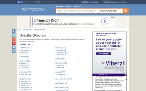 Hospitals - State Directory