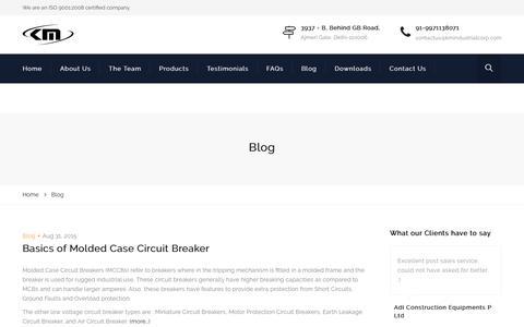 Screenshot of Blog kmindustrialcorp.com - Blog | KMIC - captured Oct. 16, 2017