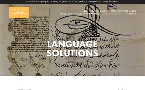 Screenshot of Press Page karamandc.com - Language Solutions — Karaman Language Solutions - captured Oct. 16, 2017