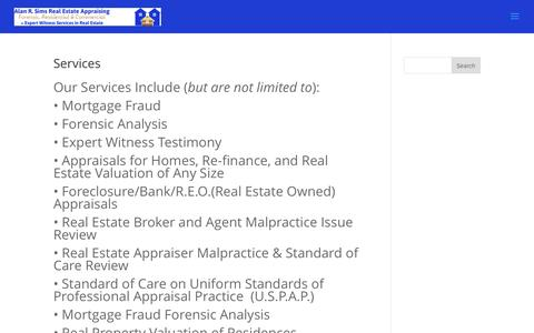 Services | Alan R. Sims Real Estate Appraising