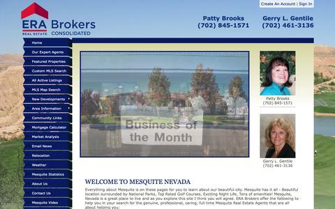Screenshot of Home Page mesquitenevada.com - Mesquite Nevada Homes & Real Estate - ERA Brokers - captured Sept. 28, 2018