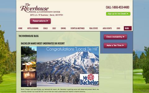 Screenshot of Blog riverhouse.com - Riverhouse Resort, Hotel and Convention Blog in Bend - captured Nov. 5, 2014