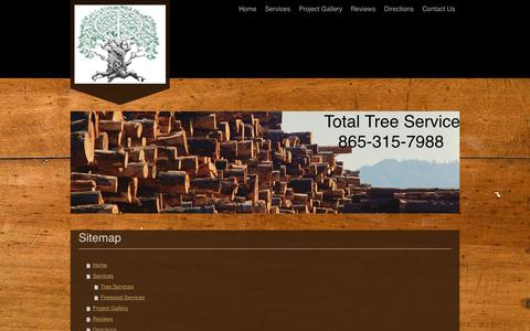 Screenshot of Site Map Page totaltreeservice.info - Total Tree Service - Home - captured Oct. 7, 2014