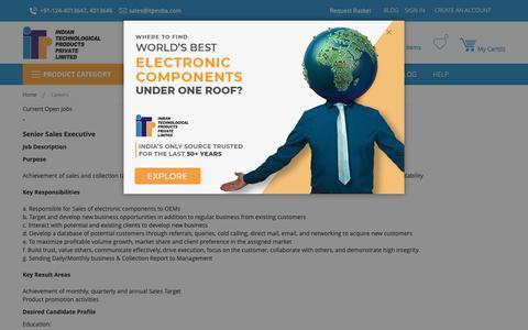 Screenshot of Jobs Page itpindia.com - Careers - captured Dec. 19, 2018