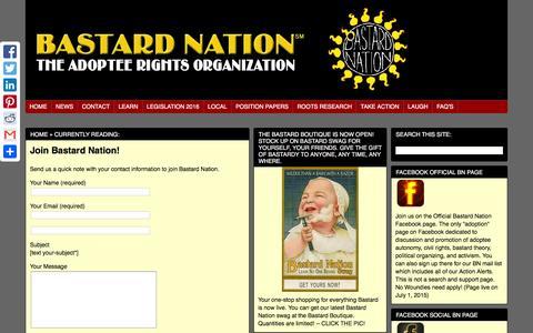 Screenshot of Signup Page bastards.org - Bastard Nation   Join - captured March 9, 2016