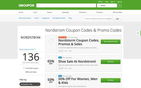 Nordstrom Coupons & Promo Codes 2016 - Groupon