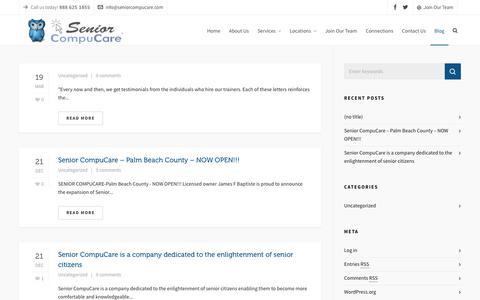 Screenshot of Blog seniorcompucare.com - Blog | Senior CompuCare - captured Oct. 18, 2018