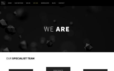 Screenshot of About Page newnormal.co.za - We Are – New Normal - captured June 13, 2017