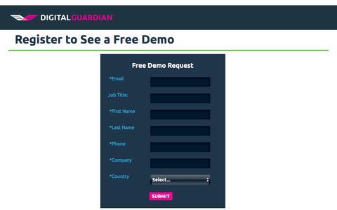 Free Demo Digital Guardian