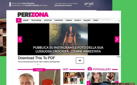 Screenshot of Home Page perizona.it - Perizona Magazine - Gossip a portata di click - captured Sept. 8, 2016
