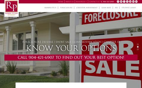 Screenshot of Home Page restartyourlifejax.com - Bankruptcy, Foreclosure Defense Attorney Jacksonville, Fernandina Beach, FL - captured Feb. 11, 2016