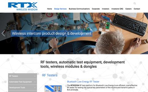 Screenshot of Products Page rtx.dk - Products - RTX - captured Oct. 17, 2017
