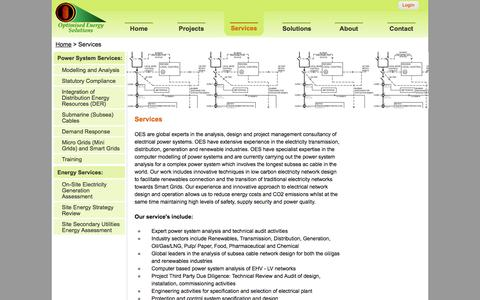 Screenshot of Services Page optimisedenergysolutions.com - Services | Optimised Energy Solutions - captured Oct. 9, 2014