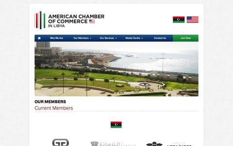 Screenshot of Testimonials Page amcham.ly - American Chamber of Commerce in Libya - captured Oct. 4, 2014