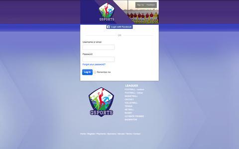 Screenshot of Login Page qsports.qa - Login : Q-Sports Leagues - captured Sept. 27, 2014