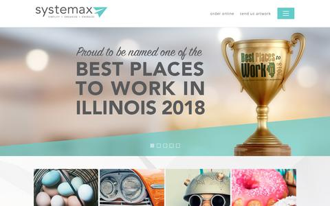 Screenshot of Home Page systemaxsolutions.com - Home - Systemax Solutions - captured Oct. 18, 2018