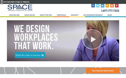 Screenshot of Home Page spaceinc.net - Office Interior Design - Michigan | SPACE Inc - captured Sept. 30, 2014
