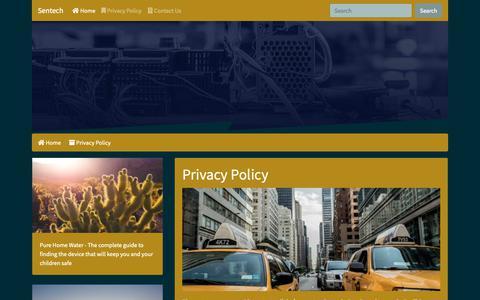 Screenshot of Privacy Page sentech.org - Sentech - captured Nov. 18, 2018