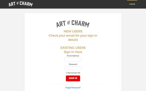 Login | The Art of Charm Challenge