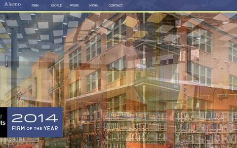 Screenshot of Home Page alamoarchitects.com captured Dec. 24, 2015