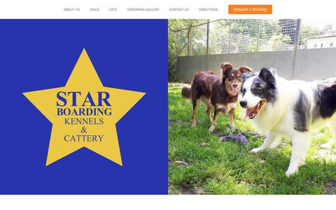 Screenshot of Home Page starboardingkennels.co.uk - Star Boarding Kennels - Home - captured Dec. 3, 2018