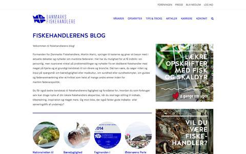 Screenshot of Blog fiskehandlerne.dk - Fiskehandlerens blog - Danmarks Fiskehandlere - captured Nov. 3, 2014