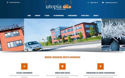 Screenshot of Home Page utopia-almelo.nl - Utopia Almelo - Kantoor of kantoorruimte huren in Twente - captured Sept. 10, 2015