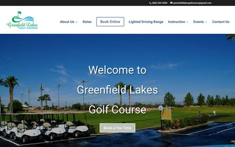 Screenshot of Home Page golfgilbert.com - Home - Greenfield Lakes Golf Course - captured Sept. 30, 2018