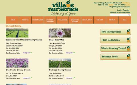 Screenshot of Locations Page villagenurseries.com - Village Nurseries Locations | Village Nurseries - captured June 19, 2017