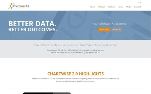 Screenshot of Products Page chartwisemed.com - Product | ChartWise Medical Systems - captured July 19, 2014