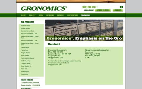 Screenshot of Contact Page gronomics.com - Gronomics - captured Sept. 19, 2014