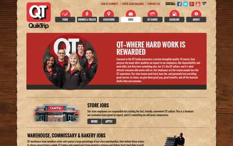 Screenshot of Jobs Page quiktrip.com - QuikTrip Corporation > Jobs - captured Dec. 5, 2016